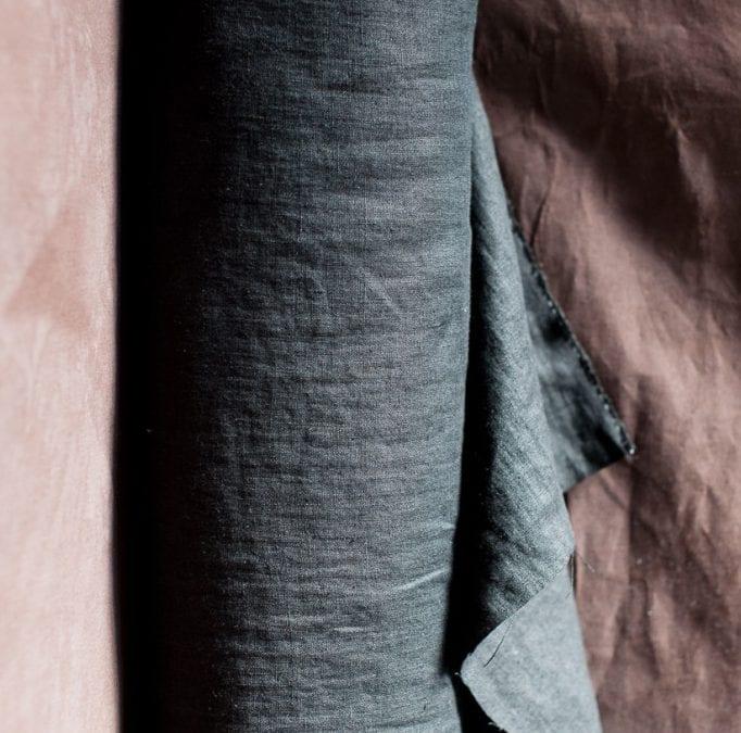 Scuttle Black 185 Laundered European Linen by Merchant & Mills