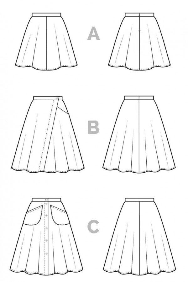 Skirt_Technical Flat