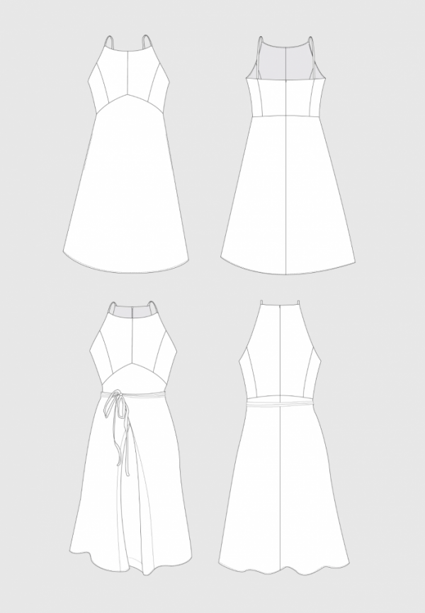 Acton-dress-technical-drawing