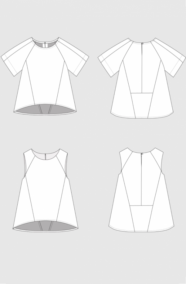 Collins top – technical sketch